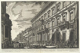 Prix de Rome winners would stay at the Palazzo Mancini before 1803; when they would then stay at the Villa Medici.